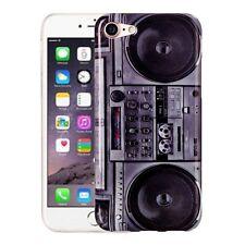 Coque rigide pour Apple iPhone 7 Housse de protection sac Cover GHETTOBLASTER radio retro