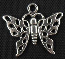 Free Ship 50Pcs Tibetan Silver Butterfly Charms 20x17mm