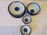 Vintage Plates Rice Bowl Soy Sauce Designer Chinese Japanese Set Of 12
