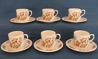 AYNSLEY COTTAGE GARDEN CHINA COFFEE CUPS & SAUCERS 12 PCE SET BOX ENGLAND UNUSED