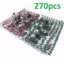 Toy Military Soldier Army Men Plastic Figure Model Play Set Kit Green Red War