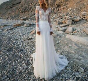 Bohemian Vintage Style Boho Hochzeitskleid Handgemacht für deine Größe! Spitze
