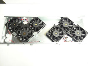UPS Fan Tray Chassis Assembly, 6x FFB1248EHE DC48V .75A  DC Brushless Fans