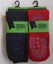Mens Thermal Non-skid SLIPPER Lounge Socks Non Slip Sole Dark Grey Size 7-11