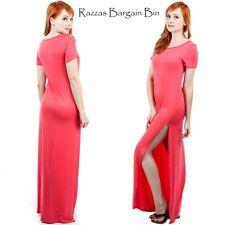 New Ladies Coral Maxi Dress Plus Size 18/2XL (9556)IP