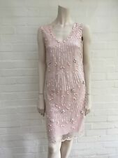 RED Valentino Pink Beaded Cocktail Dress Elegant I 40 US 4 UK 8 S Small