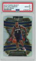 Zion Williamson 2019-20 Panini Select Silver Prizm Rookie RC Card #1 PSA 10 MINT