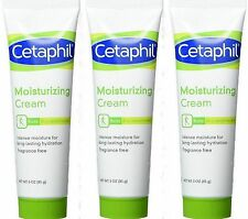 Cetaphil Moisturizing Cream Fragrance Free 3oz PURSE SIZE (3 pack)