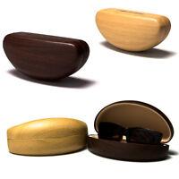 New Multi Colors Wood Print Hard Clam Eyeglasses Eyewear Sunglasses Case