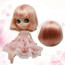 RBL Scalp & Dome Light Pink Short Hair With Bangs R054 For Blythe Doll