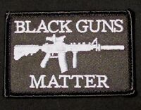 BLACK GUNS MATTER USA ARMY TACTICAL MILITARY MORALE BADGE SWAT HOOK PATCH