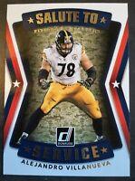 c1ae0263a 2017 Donruss Salute To Service Alejandro Villanueva Pittsburgh Steelers