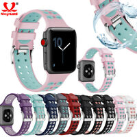 Replacement Silicone Sports Strap Band For Apple Watch Series 5 4 38 40 42 44mm
