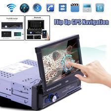 "7"" 1DIN HD Andriod 8.1 Flip Up GPS Navigation DSP Car Stereo MP5 Player Radio BT"