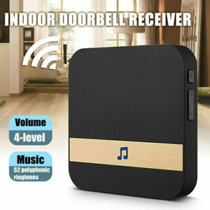 WiFi Wireless Smart Video Door Bell Receiver Chime 52-melodies Ding Dong UK Plug