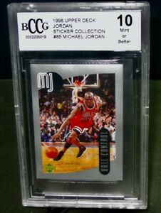 BCCG 10 Mint+ 1998 Upper Deck MICHAEL JORDAN Basketball Card #85 STICKER COLL.