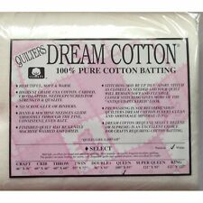 "Quilters Dream Queen White Cotton Select Quilt Batting 108"" x 93"""