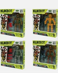 Zing KLIKBOT 4 Pack Includes All 4 Heroes STOP MOTION ANIMATION BNIB