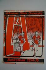 Vintage Basketball Media Press Guide Arkansas State University 1974 1975