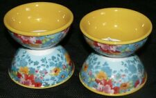 "The Pioneer Woman Set of 4 Breezy Blossoms 3"" Dipping Bowls Floral Yellow New"