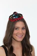 Womens Mini Sombrero Hat Mexican Multicolor Cap Halloween Costume Headband Adult