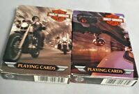 2002 Harley-Davidson Motorcycles Playing Cards 2 Decks Pre-owned