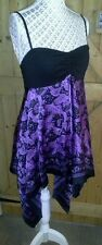 LADIES RED HERRING BLACK PURPLE ASYMMETRIC STRAPPY EMBELISHED TOP BNWT SIZE 10
