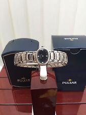 Donna Pulsar by Seiko Orologio Ideale Regalo Swarovski Quadrante Nero RRP £ 110 (pu41