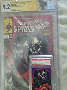 Amazing Spider-Man 316 CGC SS 9.2 Signed Todd McFarlane 1st Cover App. Venom!