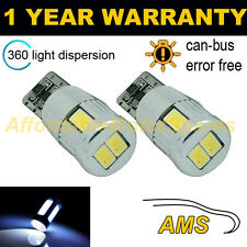 2x W5w T10 501 Canbus Error Free Blanco 6 Smd Led sidelight bombillas Brillante sl104005