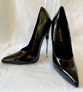 Black Patent Stiletto Pleaser/ Devious Scream 01 / size US 12 / UK 9.5 / EU 43.5