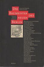 DIE BAUMEISTER DES NEUEN BERLIN HABERLIK ARCHITECTURE + PARIS POSTER GUIDE ENG