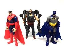 """DC Comics Genuine BATMAN, SUPERMAN, BANE 4"""" toy action figures set, justice"""