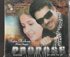 MISS POOJA & BUTA MOHAMAD - PROPOSE - BRAND NEW CD - FREE UK POST