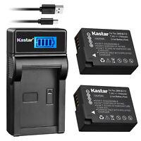Kastar DMW-BLC12 Battery + Charger for Panasonic Lumix DMC-GX8K G5 G6 G7 G81 G85