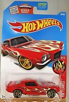2016 Hot Wheels #98 HW Flames 7/10 '70 CAMARO Red Variation w/Gold Pr5 Spokes
