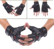Weight Training Outdoor Fitness Racing Sport Leather Gloves Fingerless Unisex