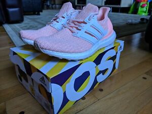 Adidas Ultra Boost 4.0 Pink Women 8.5 Running Shoes Clear Orange