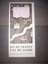 DÉPLIANT PUBLICITAIRE DÉBUT XXème ÎLE DE FRANCE VAL DE LOIRE PUB SNCF