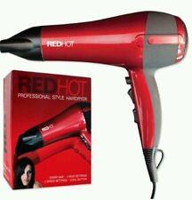 RED HOT 2200 WATT PROFESSIONAL STYLE HAIRDRYER 3 HEAT 2 SPEED HAIR DRYER