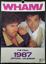 Vintage WHAM! Official 1987 Danilo Calendar,  George Michael & Andrew Ridgeley