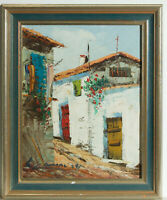 Signed 20th Century Acrylic - Street View