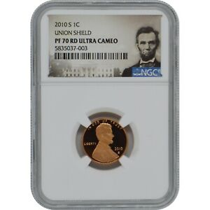 2010-S Lincoln Penny Proof Coin NGC PF70 Ultra Cameo Lincoln Label