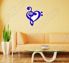 "Music Note Heart Piano Guitar Wall Sticker Room Interior Decor 22""X22"""