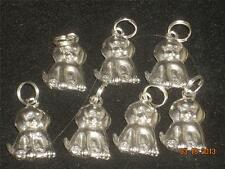Wholesale Lot #386 Pewter Dog Charm Pendant Earring Key Chain Zipper Craft Items