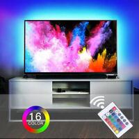 RGB TV Hintergrundbeleuchtung USB LED Streifen Leiste Fernseher 2m 5050 SET