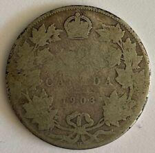 1903 H Canadian Half Dollar King Edward VII 925 Silver B29
