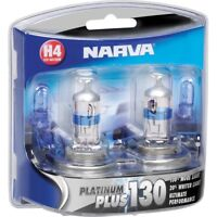 NARVA H4 +130% PLATINUM PLUS HALOGEN BULBS GLOBES NEW 12V 48542BL2 FREE EXPRESS