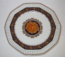 Teller, Medusa, flache Schale, aus Porzellan mit Durchbrüchen, Deko, 25x3cm