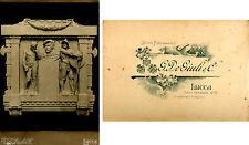 LUCCA-BOZZA DEL MONUMENTO A TITO STROCCHI -VECCHIA FOTO D'EPOCA (OLD PHOTO) 1911